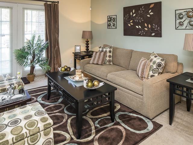 Living Room | Grand Arbor Reserve Apartment Homes Raleigh, NC
