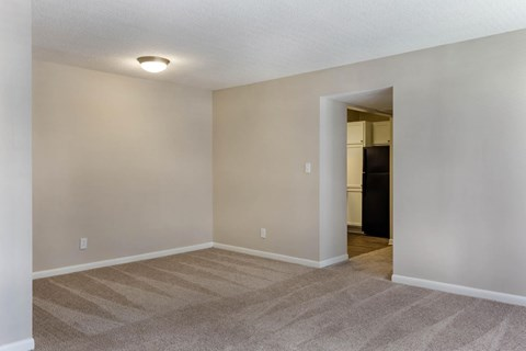 Dining Room with Wall to Wall Carpet