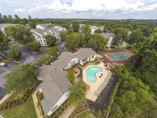 Aerial View of Landmark at Pine Court Apartment Homes Columbia, SC