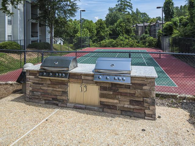 Outdoor Grilling Area | Landmark at Pine Court Apartment Homes Columbia, SC