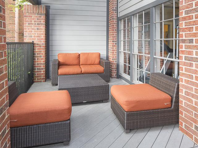 Outdoor Lounge Space | Landmark at Prescott Woods Apartment Homes Austin, TX