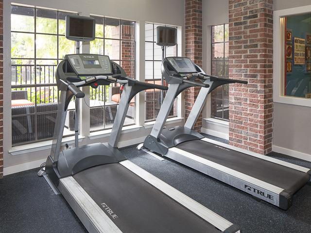 Treadmills in Resident Gym | Landmark at Prescott Woods Apartment Homes Austin, TX