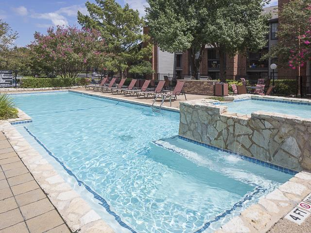 Pool with Jacuzzi | Landmark at Prescott Woods Apartment Homes Austin, TX