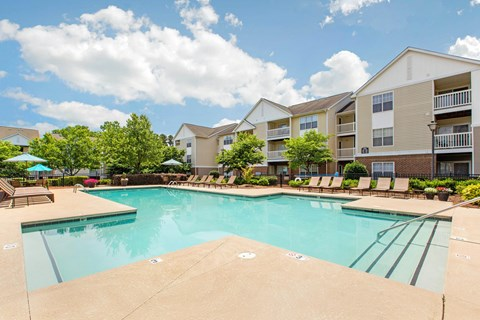 Swimming Pool with Sundeck Seating | The Grayson Apartment Homes Charlotte, NC