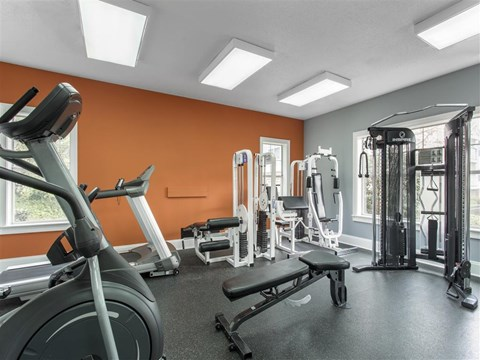 Fitness Center   The Grayson Apartment Homes Charlotte, NC