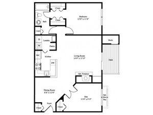 The Briarwood floor plan.