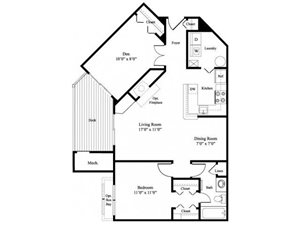 The Hickory floor plan.