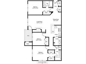 The Magnolia floor plan.