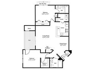 The Willow floor plan.