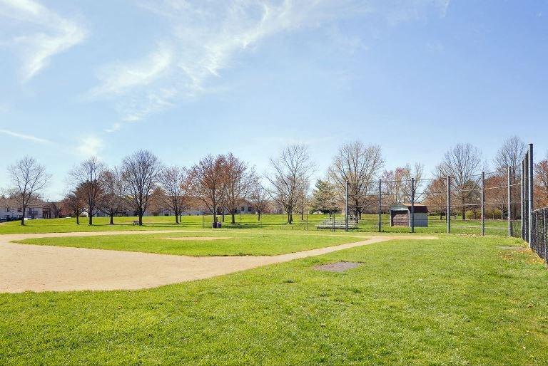Baseball field for outdoor recreation activities