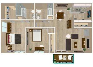 2 Bedroom 2 Baths