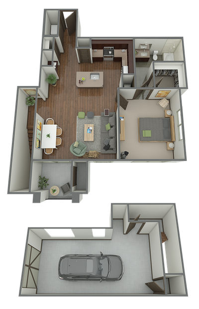 A5G - 1 Bed 1 Bath Floor Plan 6
