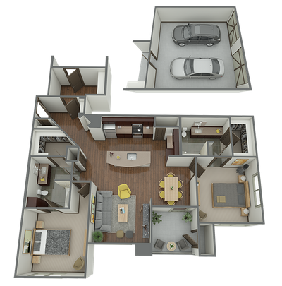 B3.2 - 2 Bed 2 Bath Floor Plan 10