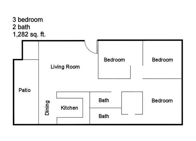 3 Bed 2 Bath Floor Plan 7