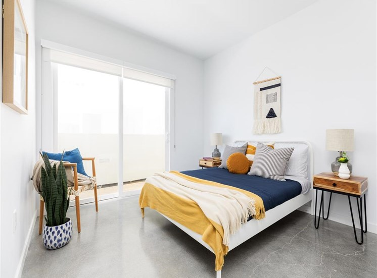 Large sized bedroom with plenty of furniture space  at The Perch, Los Angeles, California