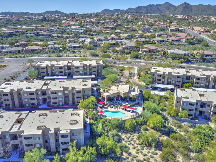 Arial View of Ridge View Apartments at Ridge View Apartments in Fountain Hills, AZ