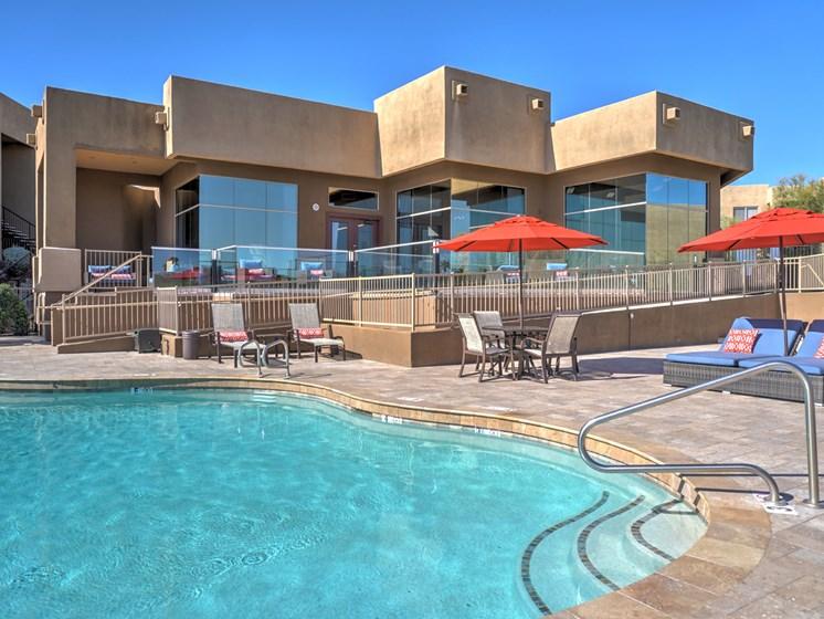 Exterior, Pool & Pool Patio at Ridge View Apartments in Fountain Hills, AZ