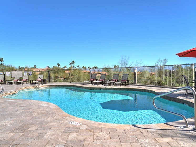 Pool & Pool Patio at Ridge View Apartments in Fountain Hills, AZ