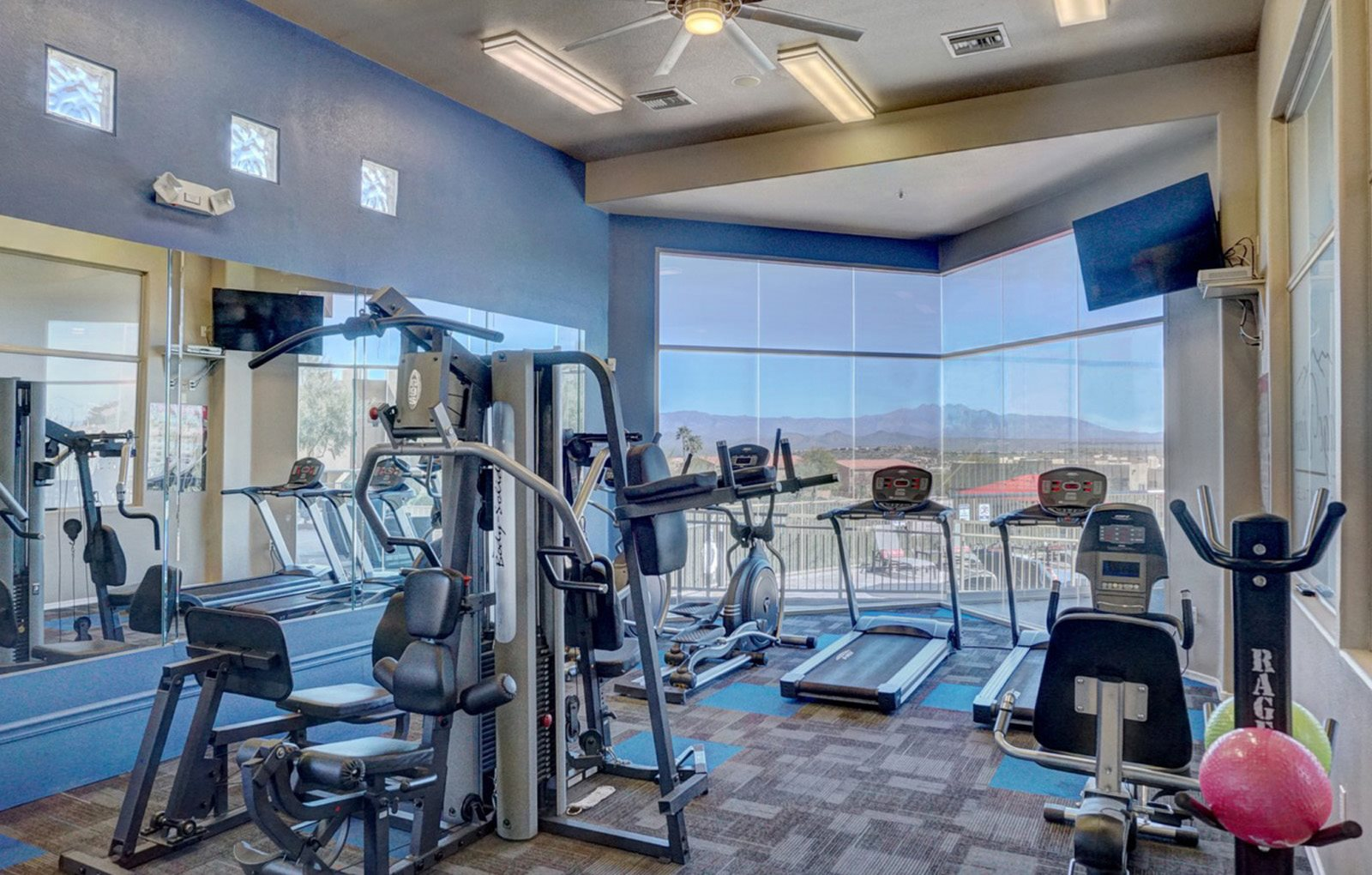Community fitness center at Ridge View Apartments in Fountain Hills, AZ
