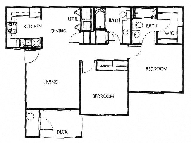 Champion Crossing 2 bed 2 bath floorplan