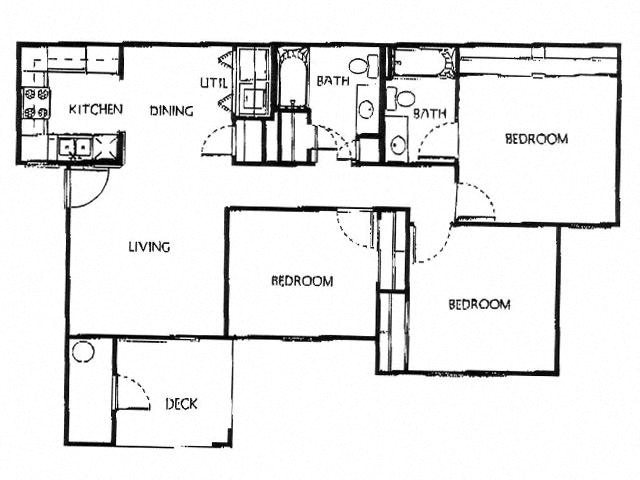 Champion Crossing 3 bed 2 bath floorplan