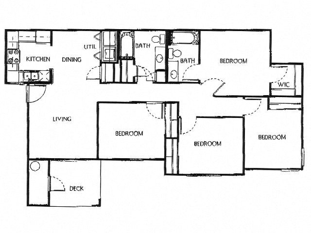 Champion Crossing 4 bed 2 bath floorplan