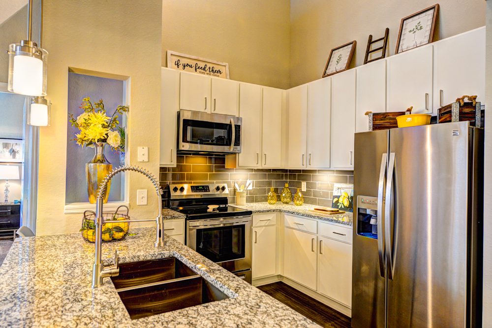 Well equipped kitchen at Century Deerwood Park