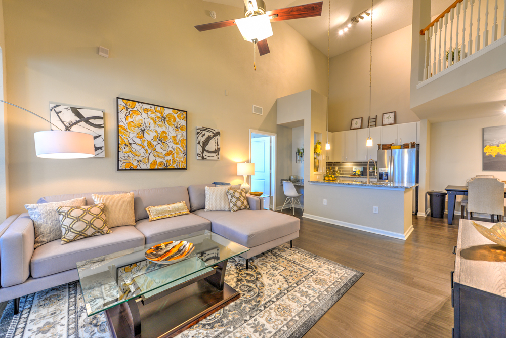 Spacious and modern living room at Century Deerwood Park