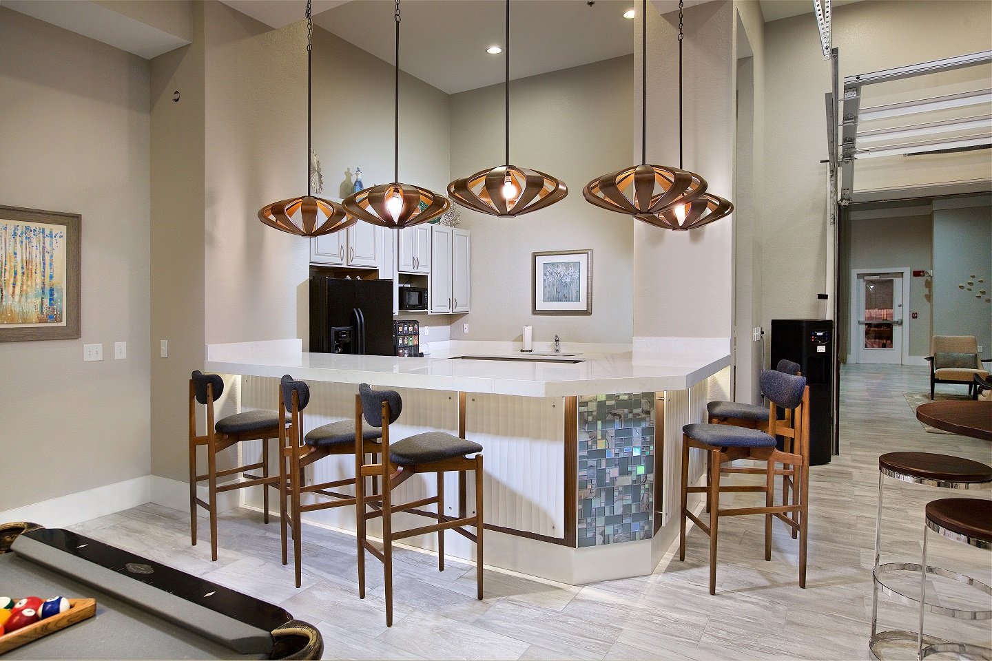 Coffee Bar and Hospitality Station at Century Deerwood Park, Florida