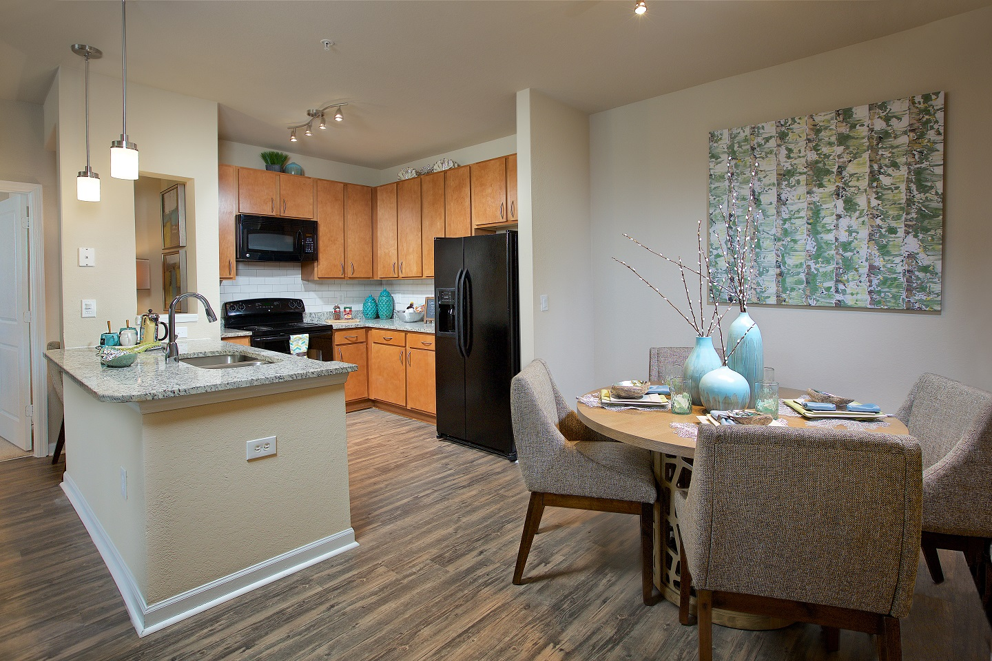 Kitchen and dinning area at Century Deerwood Park