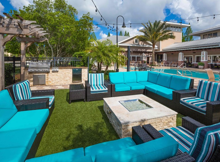 Outdoor Lounge with BBQ Area and Firepit at Century Deerwood Park, Jacksonville, 32216