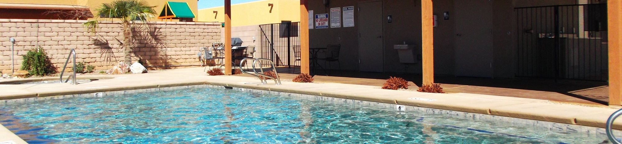 Community Pool & Pool Patio at Coronado Commons & Villas in Sierra Vista, AZ