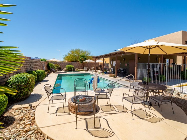 Pool and pool patio at Coronado Commons and Villas in Sierra Vista AZ