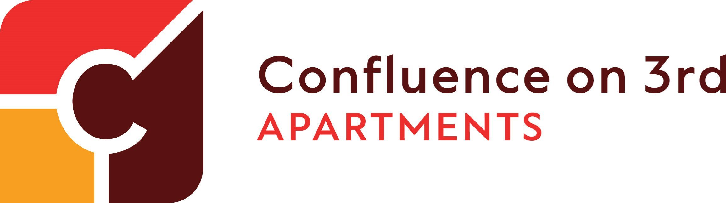 Confluence on 3rd Apartments in Downtown Des Moines Logo