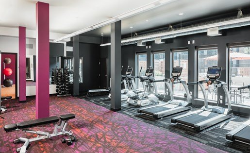 Fitness Center at Confluence on 3rd Apartments in Downtown Des Moines