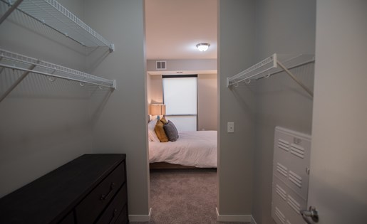 Walk-Through Closet in Confluence on 3rd Apartments Des Moines IA