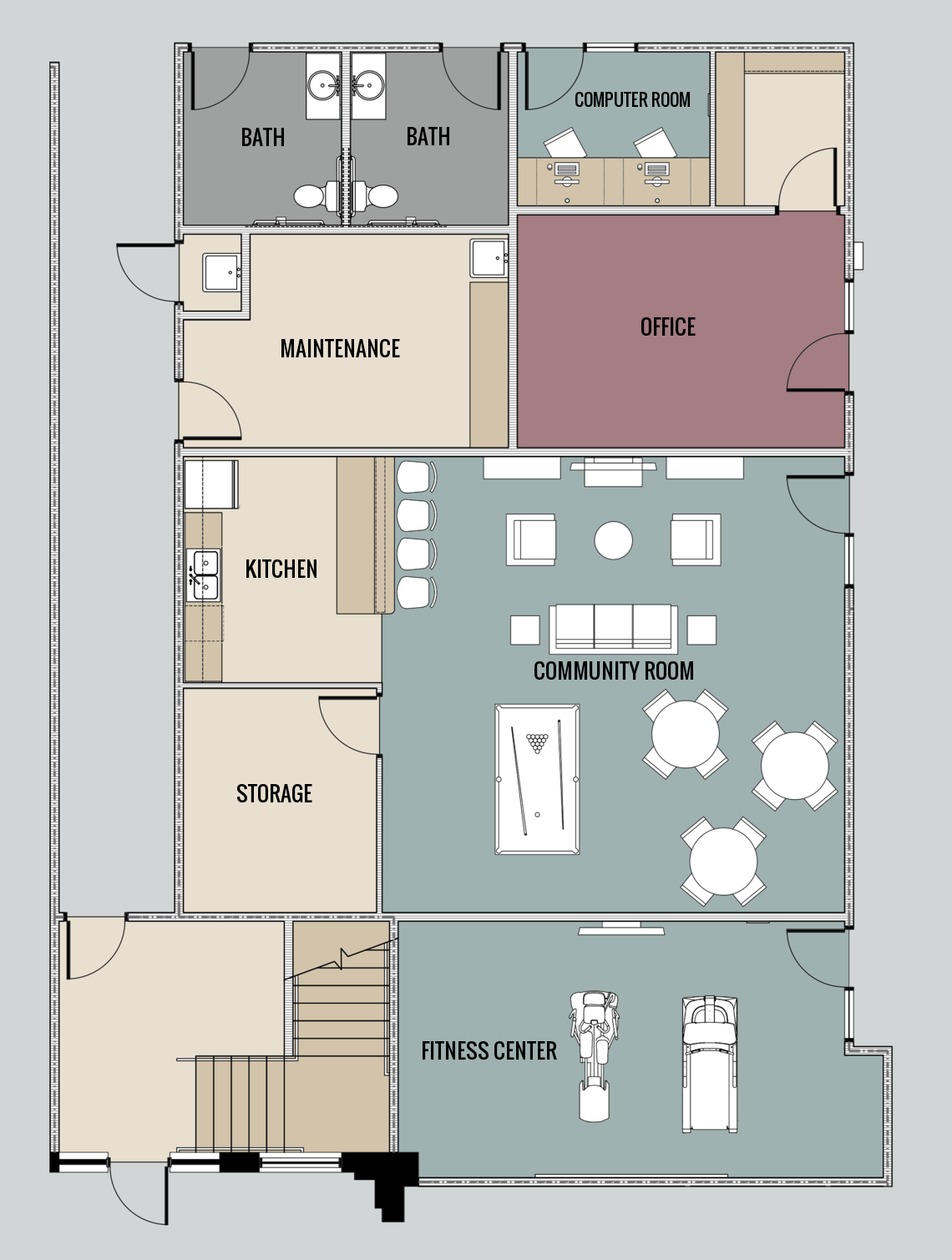 Community Room Floor Plan 10