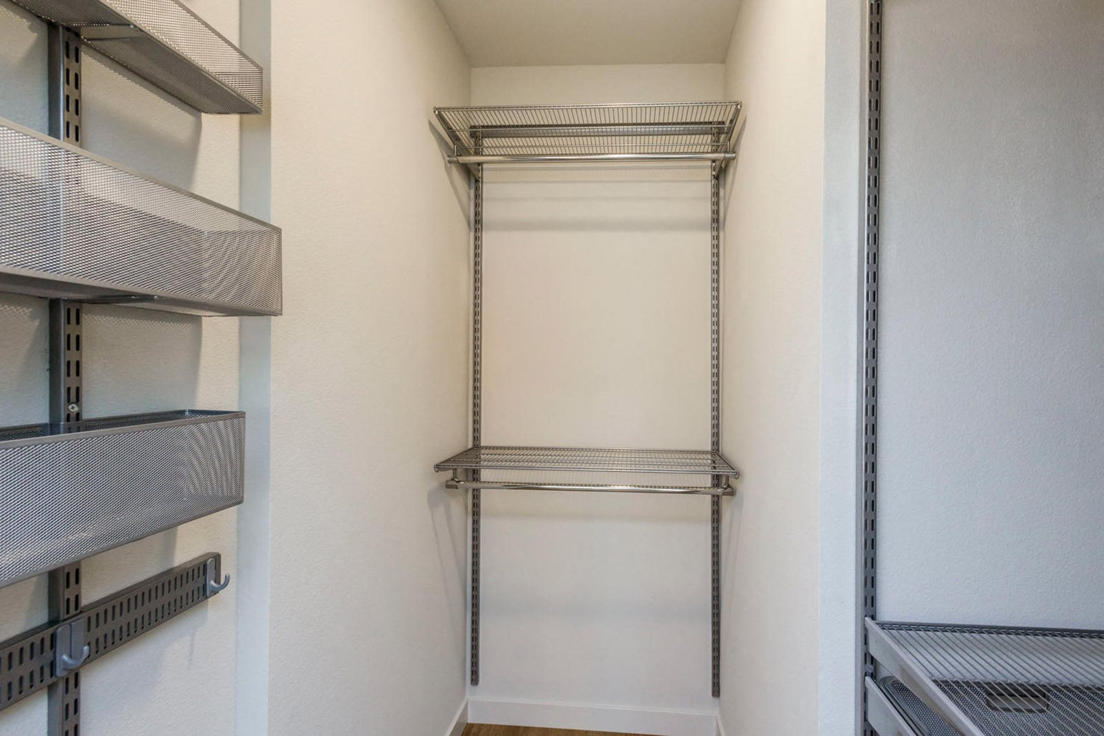 ModelHomes-Built-in shelving system in select apartments