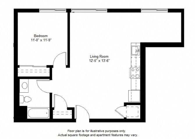 A5 floor plan at Windsor at Dogpatch, San Francisco, California