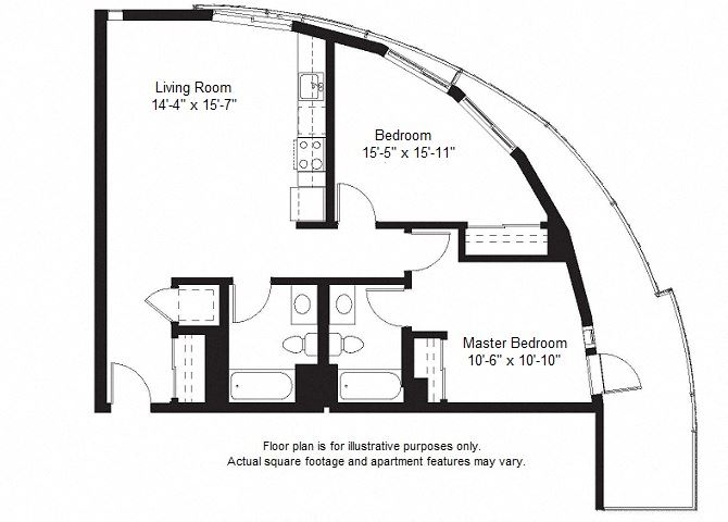 B10 floor plan at Windsor at Dogpatch, California, 94107
