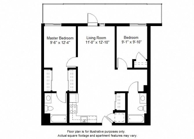 B11 Floor Plan Floor Plan at Windsor at Dogpatch