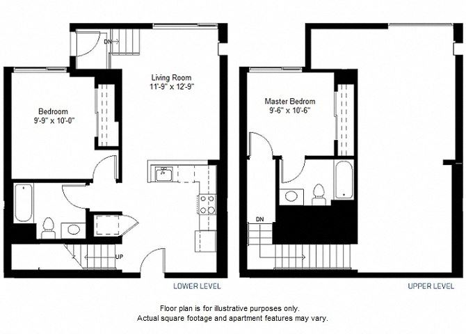 B12 floor plan at Windsor at Dogpatch, San Francisco, CA
