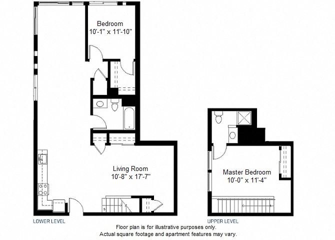 B13 floor plan at Windsor at Dogpatch, San Francisco, California