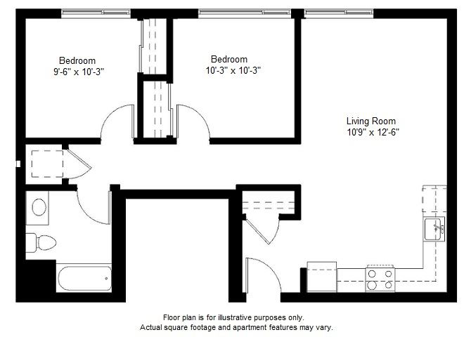 B2 floor plan at Windsor at Dogpatch, CA, 94107