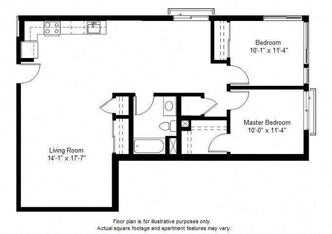 B3 floor plan at Windsor at Dogpatch, 2660 3rd Street, 94107