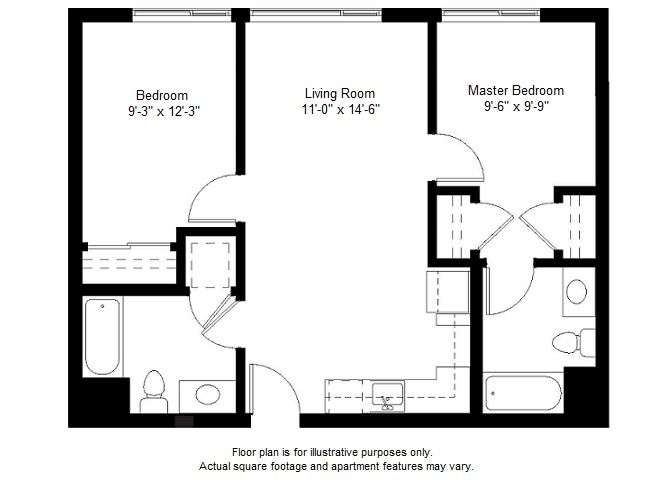 B4 floor plan at Windsor at Dogpatch, San Francisco, CA