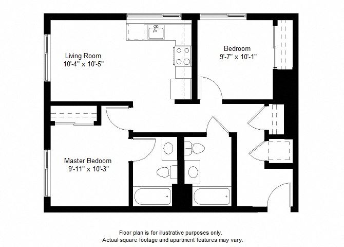B6 floor plan at Windsor at Dogpatch, San Francisco, California