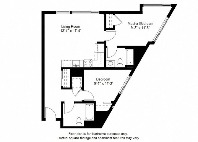 B7 floor plan at Windsor at Dogpatch, California, 94107