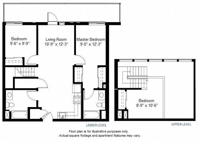 C1 floor plan at Windsor at Dogpatch, San Francisco, CA
