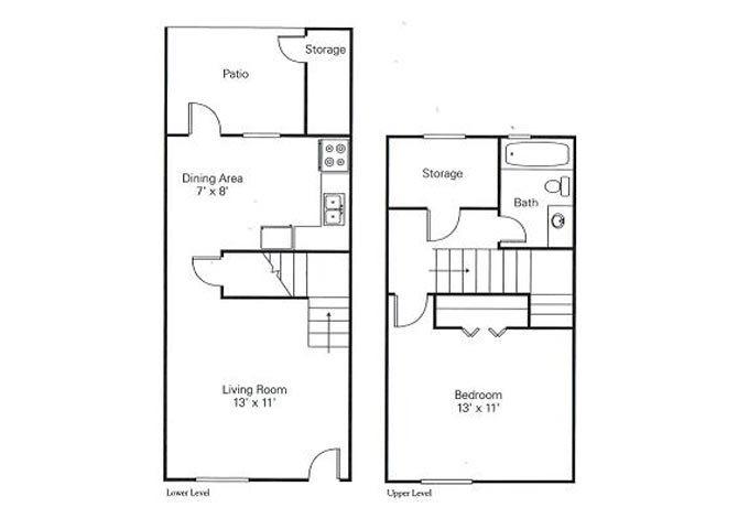 1.1 townhome Floor Plan 2
